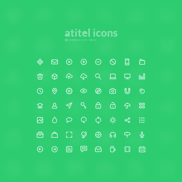 20 Free and Flat Icon Packs for Web Designers5
