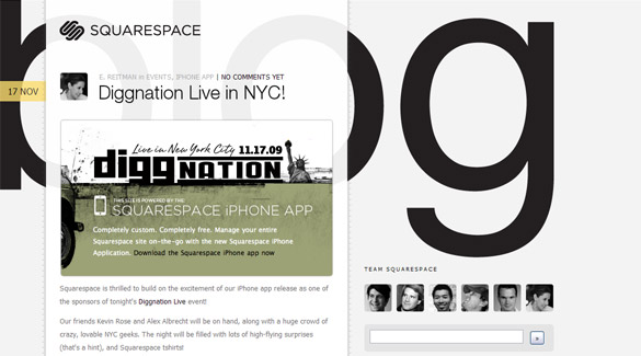 Squarespace Blog